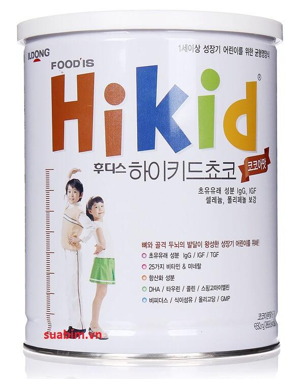 Sữa Hikid Hàn Quốc tăng chiều cao