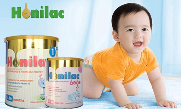 Sữa Honilac giúp tăng trưởng chiều cao và trí não cho trẻ.