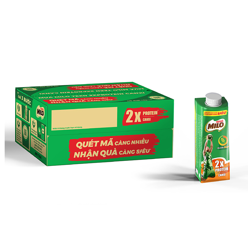 Sữa lúa mạch Nestlé® MILO® Teen Protein Canxi