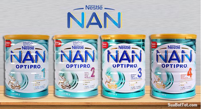Một số dòng sữa Nan