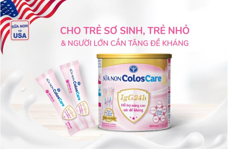 Sữa non ColosCare IgG24h 100% sữa non 24h từ Mỹ