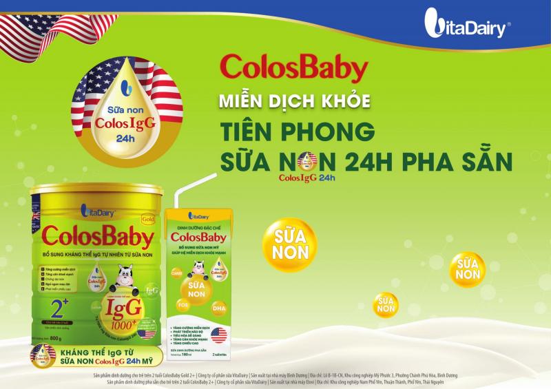 Sản phẩm sữa của công ty cổ phần VitaDairy Việt Nam