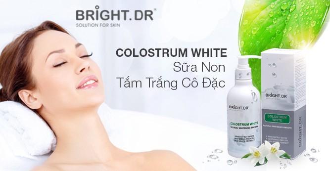 Colostrum White Bright.Dr Doctors giúp tăng cường dưỡng ẩm cho da, làm mờ vết thâm và nếp nhăn, chống lão hóa da hiệu quả.