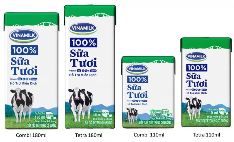 Sữa nước Vinamilk đạt chất lượng tiêu chuẩn 3 không của EFSA Châu Âu.