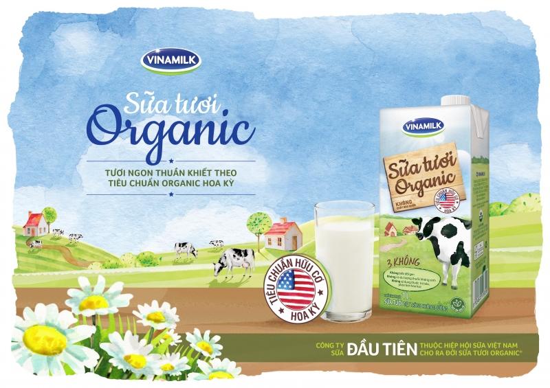 Sữa tươi tiệt trùng Vinamilk vừa tinh khiết vừa giàu chất lượng.