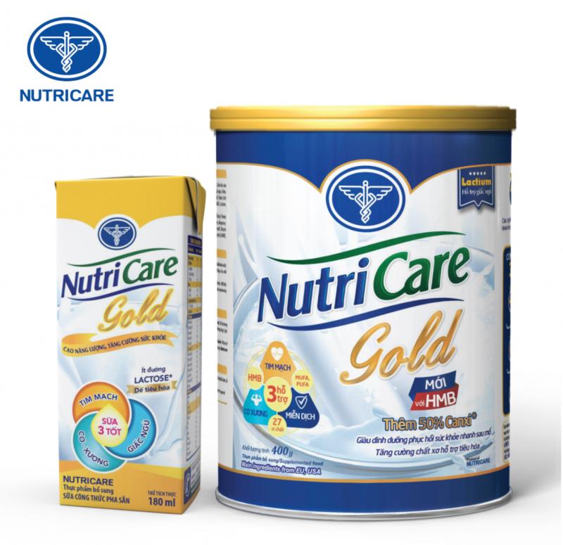 Nutricare Gold - Dinh dưỡng bồi bổ sức khỏe người lớn tuổi