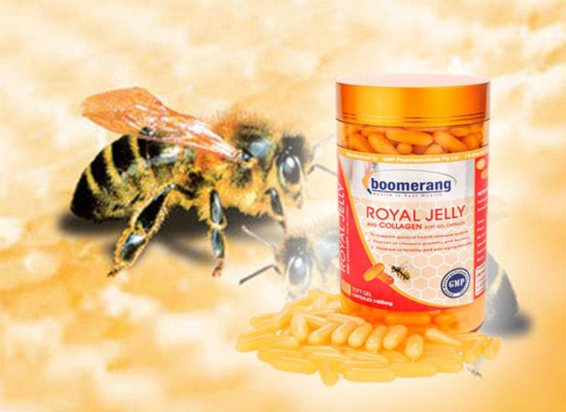 Với sự kết hợp hoàn hảo giữa tinh chất sữa ong và collagen, Royal Collagen Boomerang không chỉ giúp tăng cường sức khỏe mà còn có tác dụng cải thiện vẻ đẹp của làn da, chống lại quá trình lão hóa.