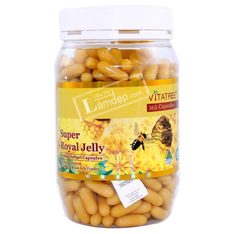 Sữa Ong Chúa Vitatree được chiết xuất hoàn toàn từ thiên nhiên có chứa nhiều dưỡng chất cần thiết như: B5, B2, B1, B12 và choline.