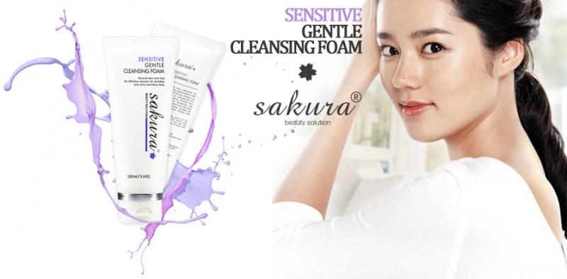 Sakura Sensitive Gentle Cleansing Foam được điều chế từ tinh chất tự nhiên