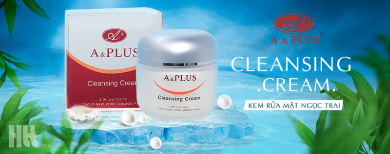 Sữa rửa mặt A&Plus Cleansing Cream dạng kem chiết xuất ngọc trai và thảo dược thiên nhiên