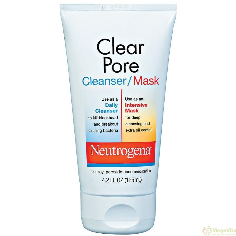 Sữa rửa mặt Neutrogena Clear Pore/ Mask