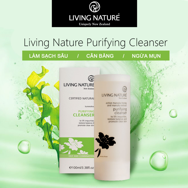 Sữa rửa mặt Purifying Cleanser Living Nature