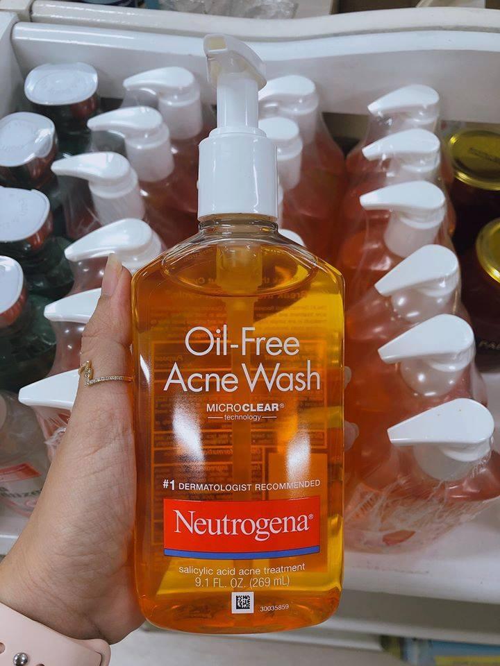 Sữa rửa mặt trị mụn Neutrogena oil-free acne wash