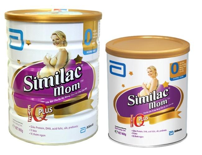 Similac mom có hai hộp loại 900g và 400g