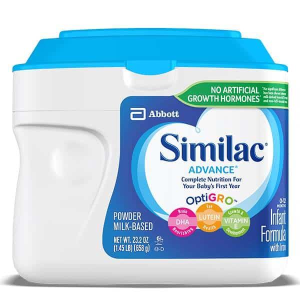 Sữa bột Similac Advance tối ưu hệ miễn dịch dành cho bé từ 0-12 tháng của Mỹ