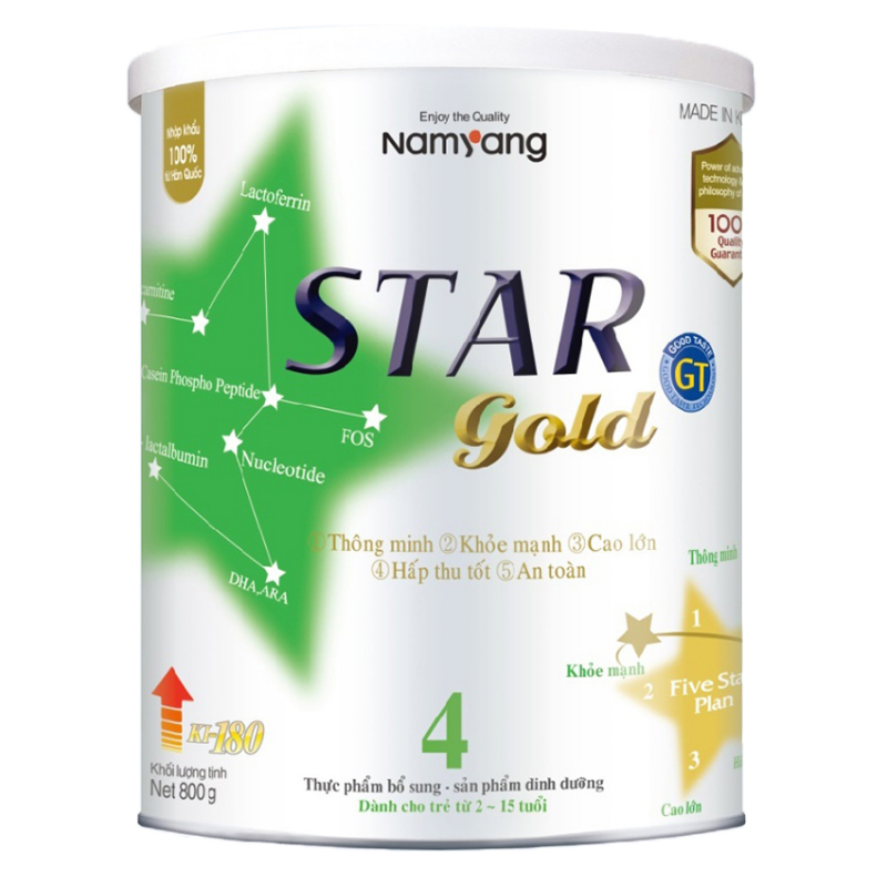 Sữa Star Gold số 4 tăng chiều cao