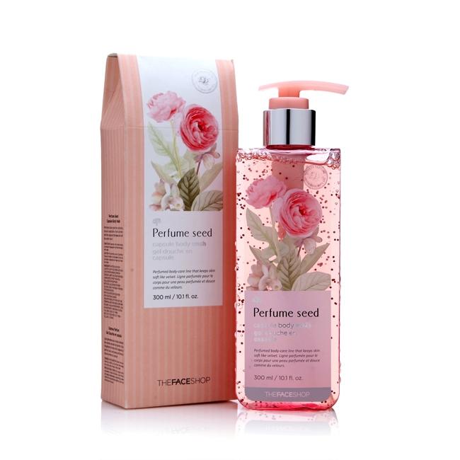 Sữa tắm The Face Shop Perfume Seed (khoảng 280.000 VNĐ/chai 300ml)
