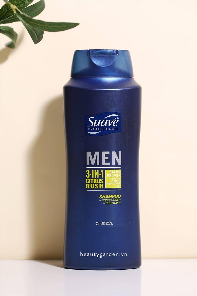 Sữa tắm gội Suave Men 2 in 1 Hair & Body Wash một sự kết hợp hoàn hảo