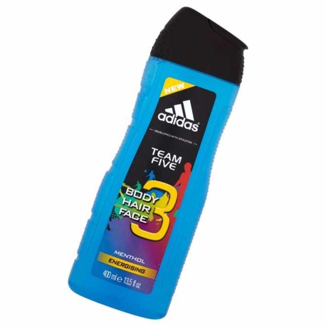 Sữa tắm gội toàn thân Tây Ban Nha Adidas Team Five Body Hair Face loại 400ml