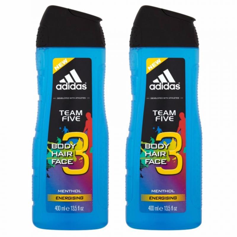 Sữa tắm gội toàn thân Adidas Team Five 3 trong 1 dùng để tắm, gội và rửa mặt. Chăm sóc toàn diện cơ thể bạn.