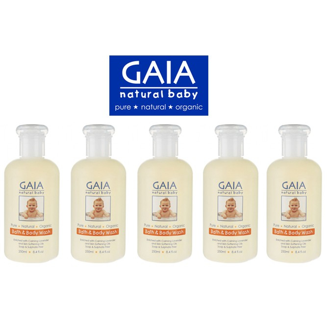 Sữa tắm hữu cơ cho bé Úc GAIA Bath & Body Wash
