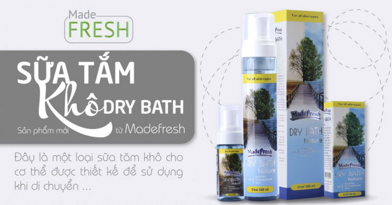Sữa tắm khô MADEFRESH DRY BATH NATURE