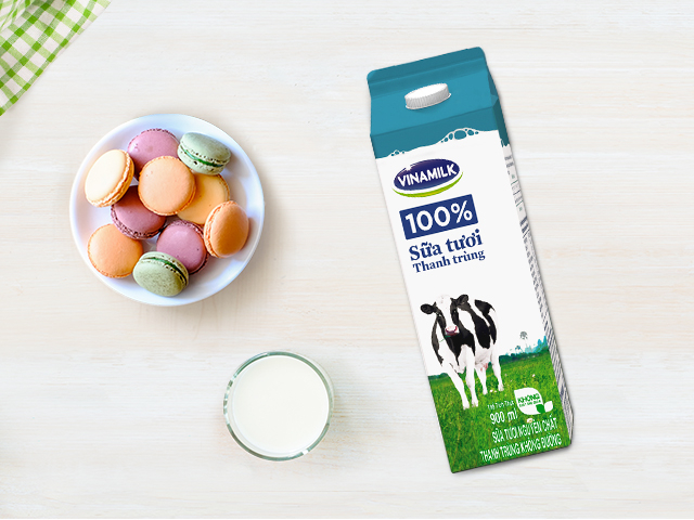 Sữa tươi 100% thanh trùng Vinamilk
