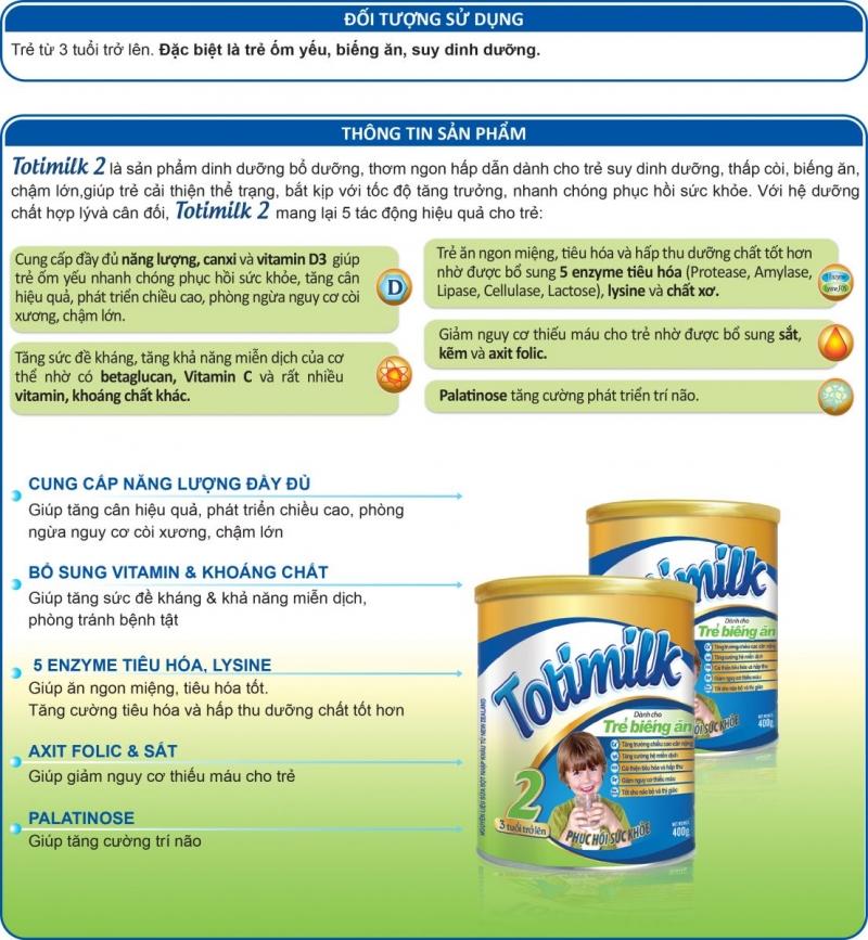 Sữa Totimilk 2