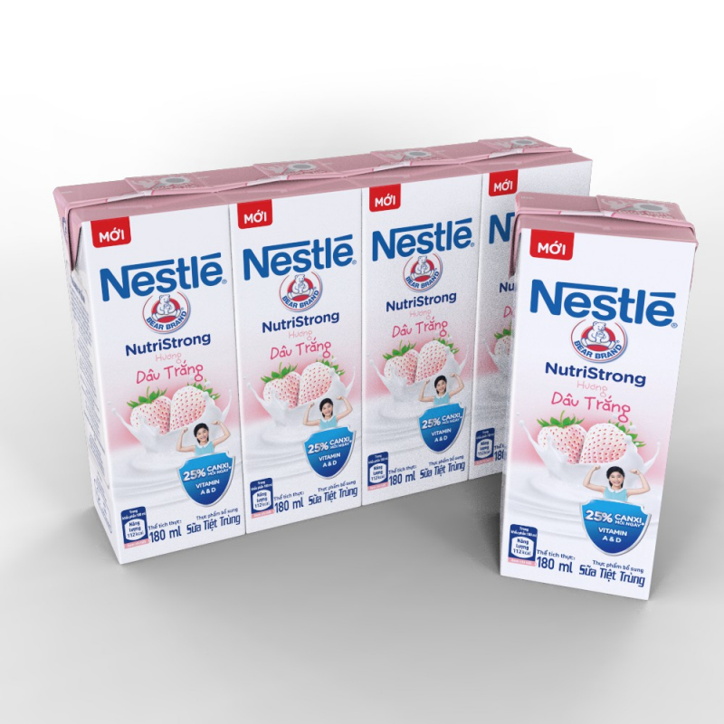 Sữa tươi nguyên chất tiệt trùng Nestle Fresh Milk hương vị dâu trắng