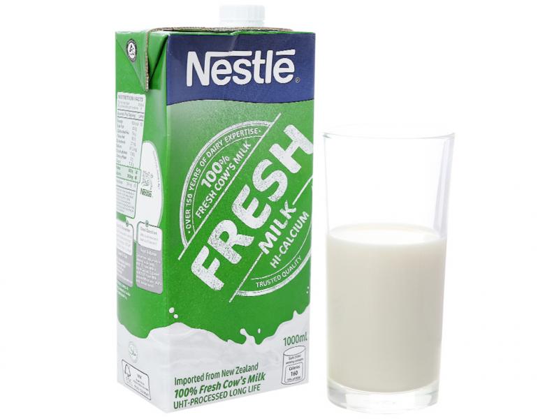 Hộp sữa tươi nguyên chất tiệt trùng Nestle Fresh Milk 1L