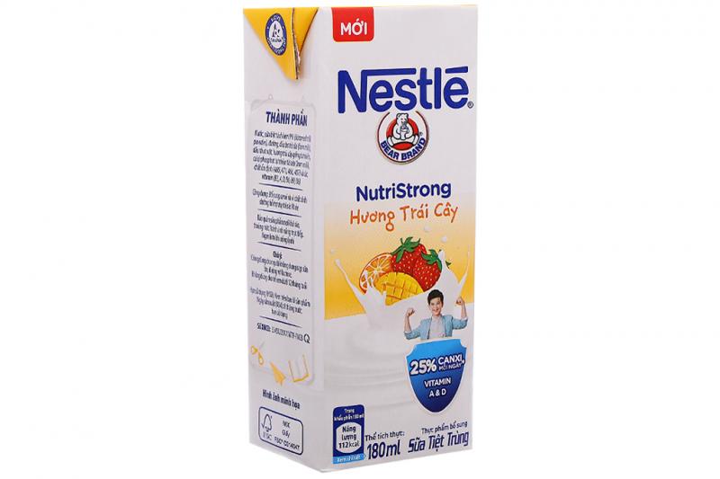 Sữa tiệt trùng hương trái cây Nestlé hộp 180ml