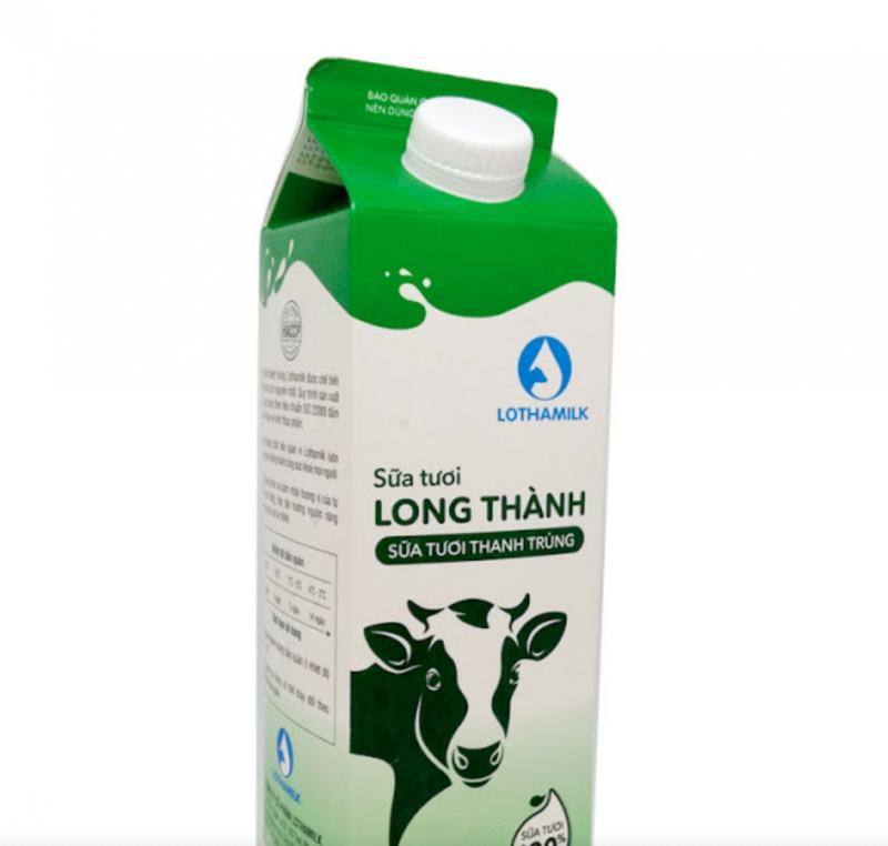 Sữa tươi thanh trùng có đường Lothamilk chai 880ml