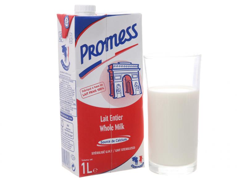 Sữa tươi tiệt trùng nguyên kem Promess Whole Milk hộp 1 lít