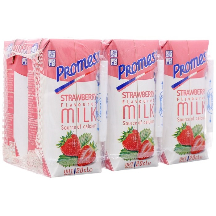 Sữa Tươi Tiệt Trùng Promess Hương Dâu 200ml