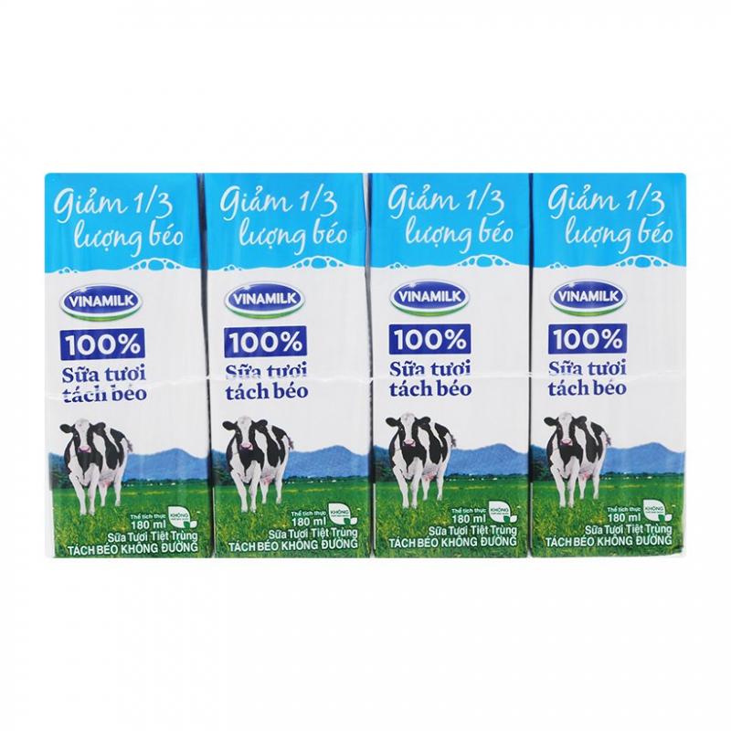 Sữa tươi tách béo không đường Vinamilk
