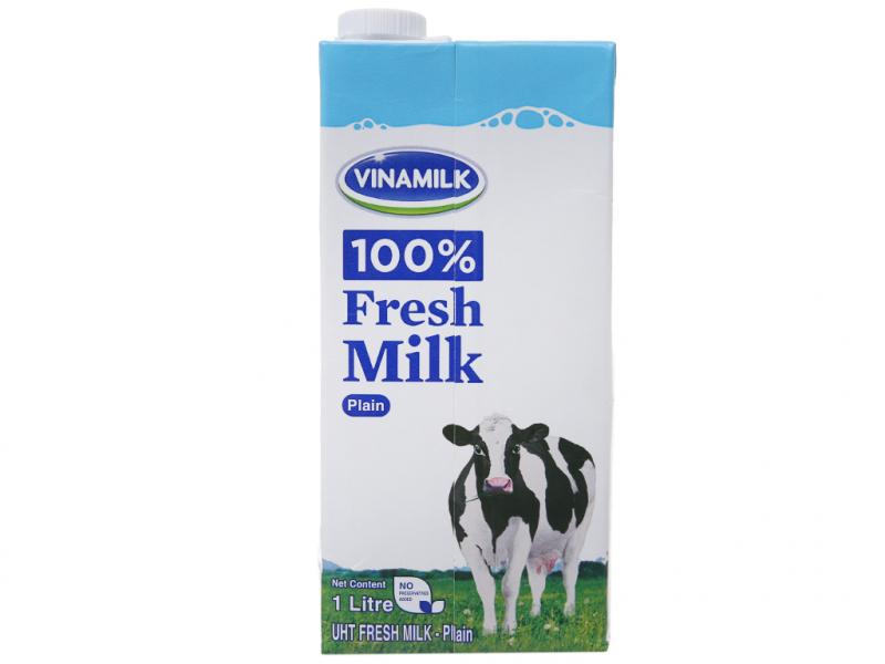Sữa tươi tiệt trùng Vinamilk không đường 1L