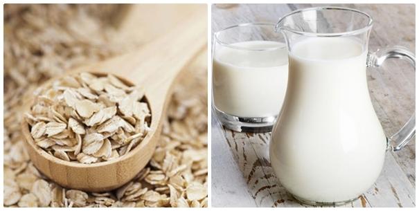 yến mạch hòa cùng sữa tươi giúp da trắng và mịn màng hơn
