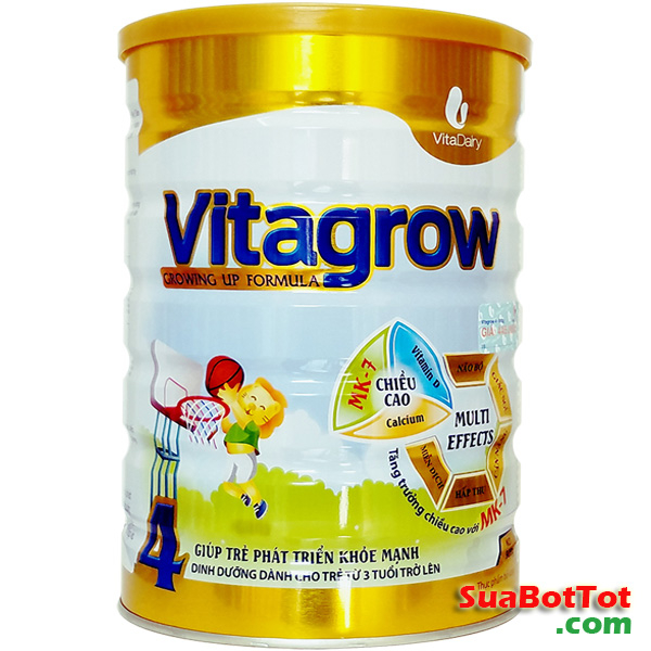 Sữa Vitagrow 4 MK7 tăng chiều cao