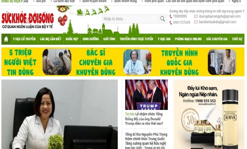 Giao diện website Sức khỏe và đời sống