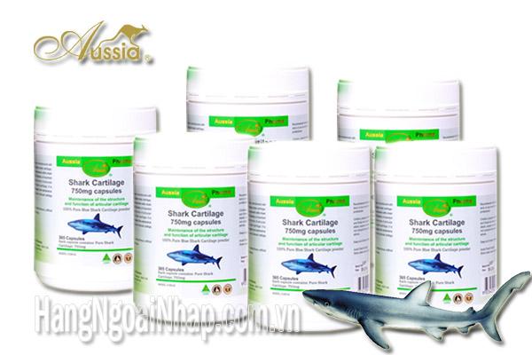 Sụn Vi Cá Aussia Pharma Shark Cartilage 750mg là sản phẩm chiết xuất từ sụn vi cá mập giàu dưỡng chất và tốt cho sức khỏe.
