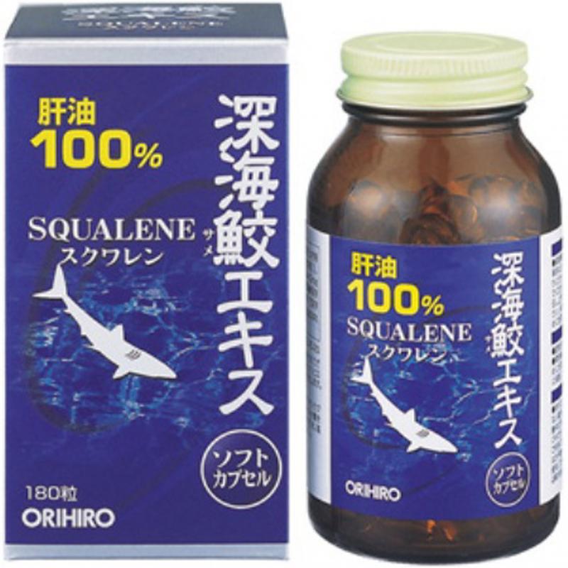 Hỗ trợ xương khớp Sụn Vi Cá Squalene Orihiro 180 Viên Của Nhật: