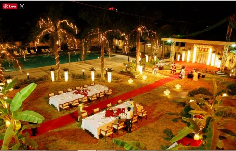 Không gian tiệc cưới lãng mạn tại sảnh