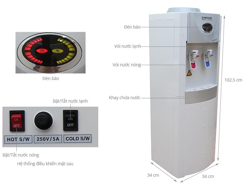 Cây nước nóng lạnh Sunhouse SHD 9696