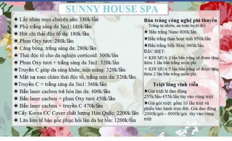 Sunny House Spa - Spa làm đẹp uy tín và chất lượng nhất TP. Buôn Ma Thuột