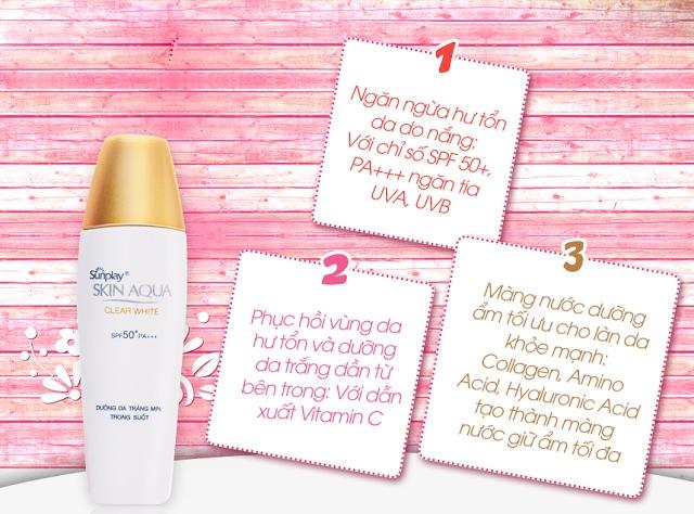 3 công dụng nổi bật của Sunplay Skin Aqua