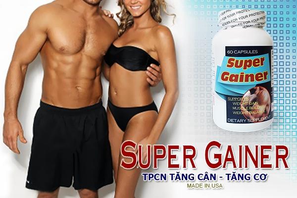 Super Gainer - sản phẩm hỗ trợ tăng cân và phát triển cơ bắp