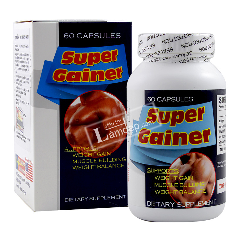 Super Gainer – Viên Uống Tăng Cơ, Tăng Cân Tốt Nhất Cho Người Gầy