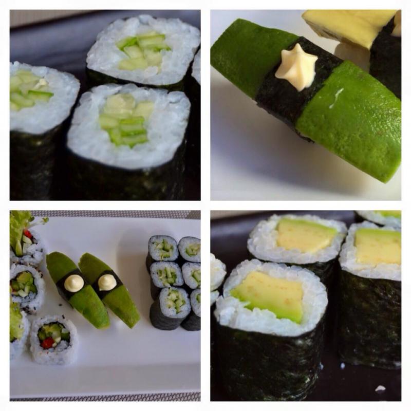 Sushi chay cuộn bơ