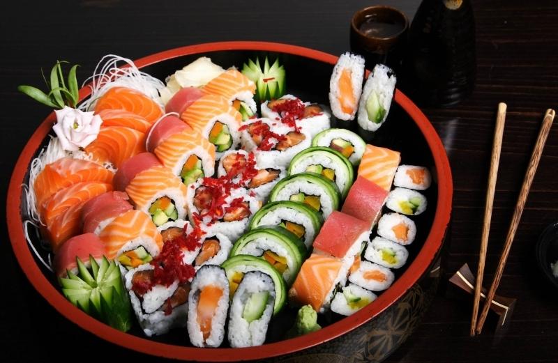 Các món ăn tại Sushi Heaven đều được trang trí rất đẹp mắt