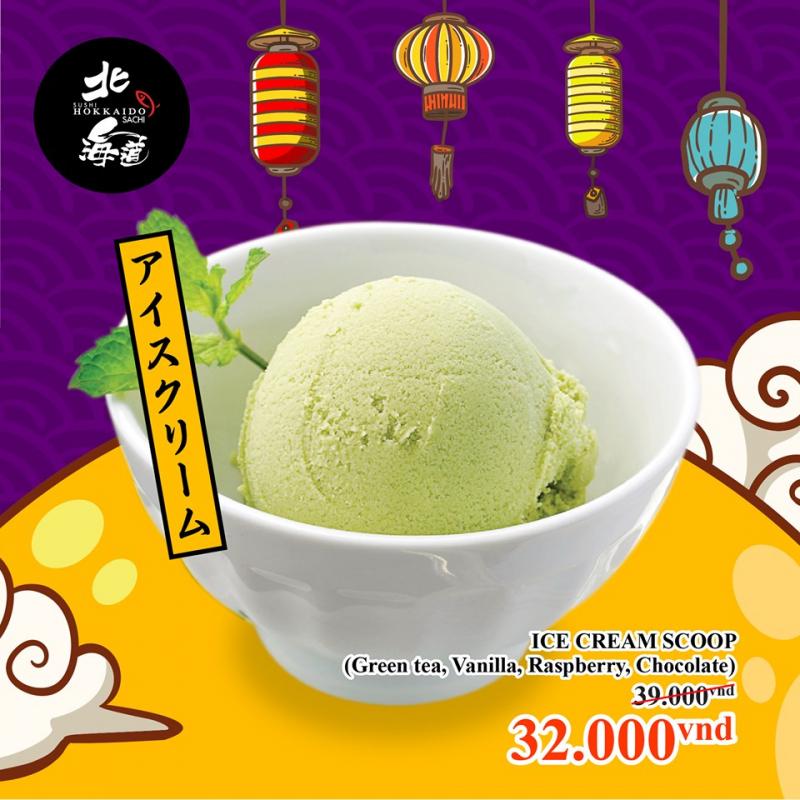Từng viên kem tròn vị thơm sánh mịn là lựa chọn lý tưởng sau khi đã dùng xong bữa chính.